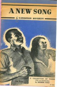 """Book jacket for A New Song (1938), which gathered together such political poems as """"Let America Be America Again"""" and """"Lynching Song."""""""