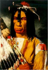 """""""Cree Chief 'Man Who Gives the War-Whoop'"""" (1848)"""