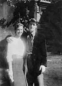 Sylvia Plath and Ted Hughes on their honeymoon, Paris, 1956